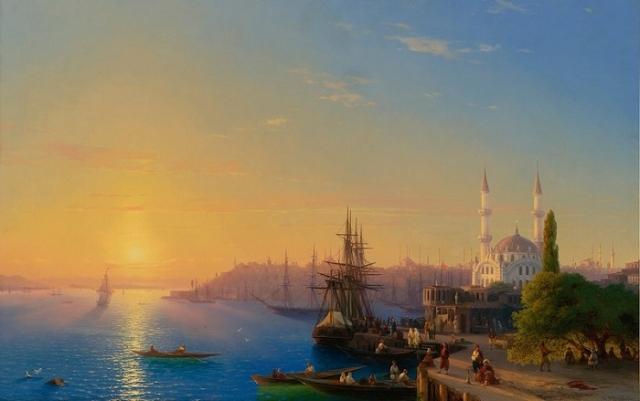 «Вид Константинополя и Босфора». (1856). Автор. И.К.Айвазовский.