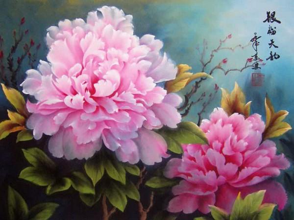 цветы художник Wan An - 06