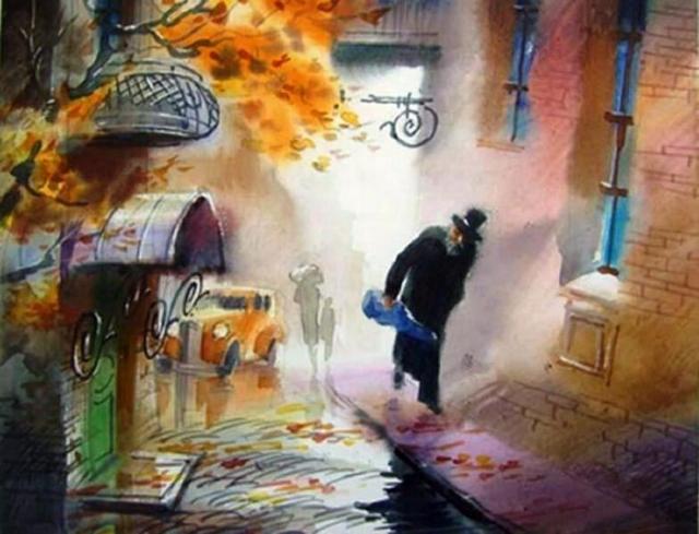 Старенький скрипач. Автор: Виктор Зелик.