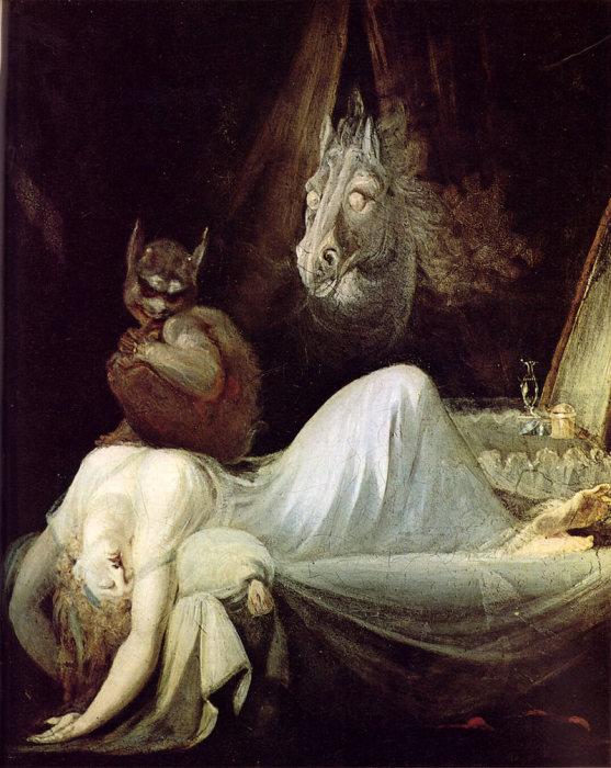 Другая версия «Кошмара». Генри Фюзели, 1790-1791 гг. | Фото: commons.wikimedia.org.