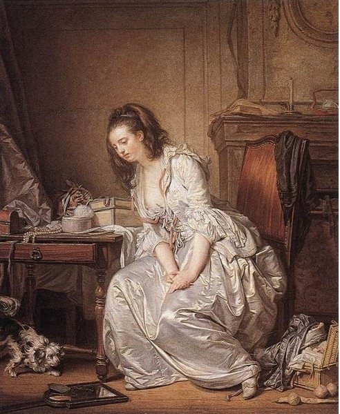 Разбитое зеркало. Автор: Jean-Baptiste Greuze.