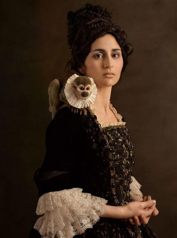 Чарующие фотопортреты женщин в духе фламандской живописи. | ТЕЛЕГРАФ