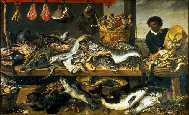 «Рыбная лавка». (1620). (С.-Петербург, Эрмитаж). Автор: Франс Снейдерс.