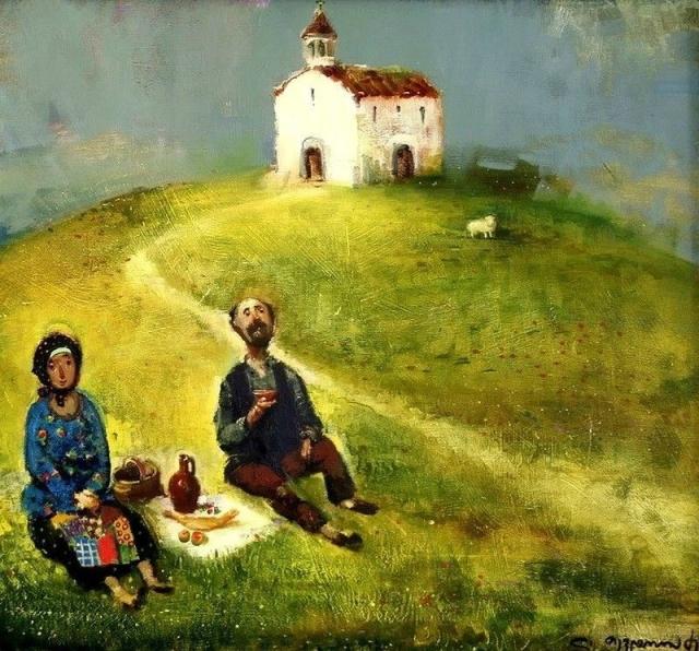 Фото: Красочные и уютные картины о настоящей жизни от грузинского художника (Фото)