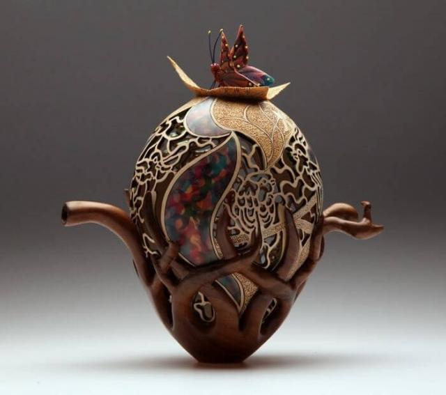 Ажурная резьба по дереву от волшебницы из Англии Джои Ричардсон — всемирно известный токарь и ... - 10