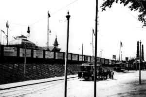 Трамвай поблизу воріт Галицької крайової виставки. 1894 р