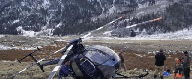 Олень сбил вертолет США