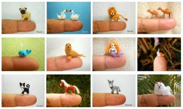 Крохотные вязанные фигурки от Suami (22 фото)