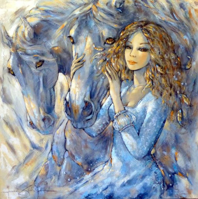 Любовь и Блу. Автор Jeanne Saint Cheron.