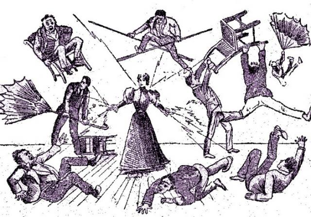 Весьма призрачная иллюстрация «Силы» Лулу Херст. Рисунок с обложки ее автобиографии, 1897 год. | Фото: dlg.galileo.usg.edu.