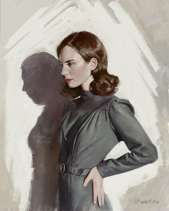 Девушка в длинном платье. Автор: Justine Florentino.