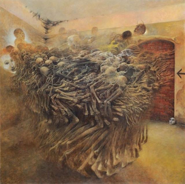Скелеты. Автор: Zdzislaw Beksinski.