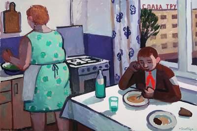 Советское детство в ностальгических картинах украинской художницы. Фото