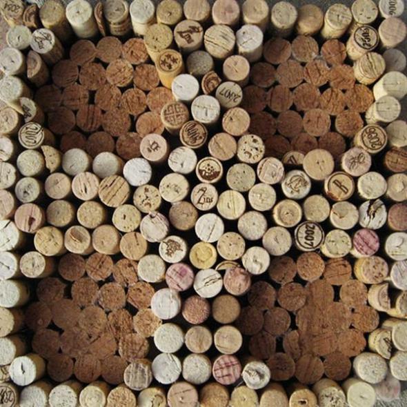 Креатив из винных пробок