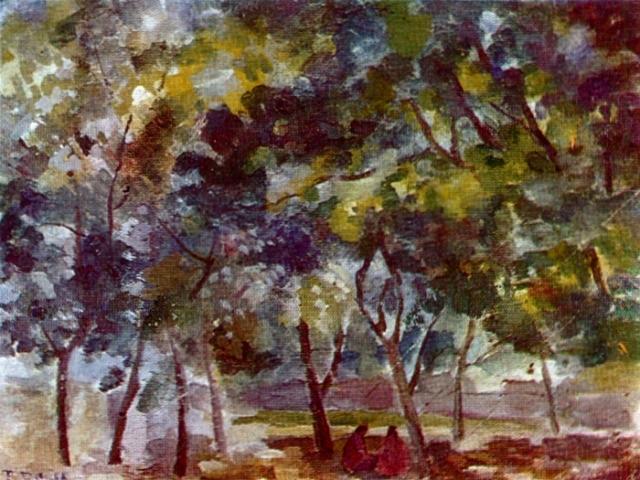 Отдых под деревьями. Самарканд. (1943 г.)