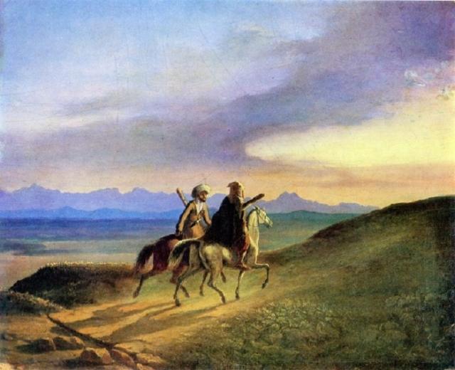 Воспоминание о Кавказе. Масло. (1837 год). Автор: М.Ю. Лермонтов.