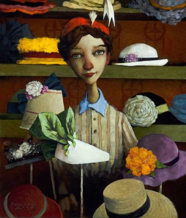 Магазин шляпок. Автор: Fred Calleri.