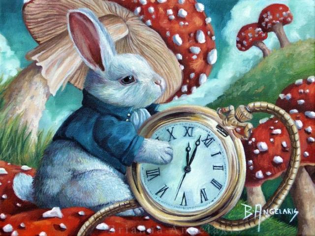 Белый кролик.   Автор: Brianna Angelakis.