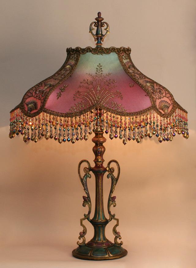 Стиле модерн, викторианский бисером абажуры