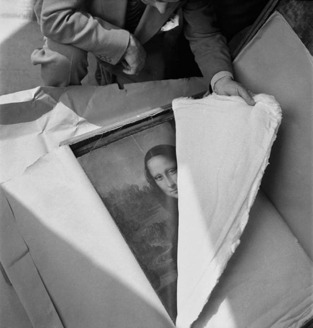 «Мона Лизу» впервые показывают после войны. | Фото: louvre.fr.