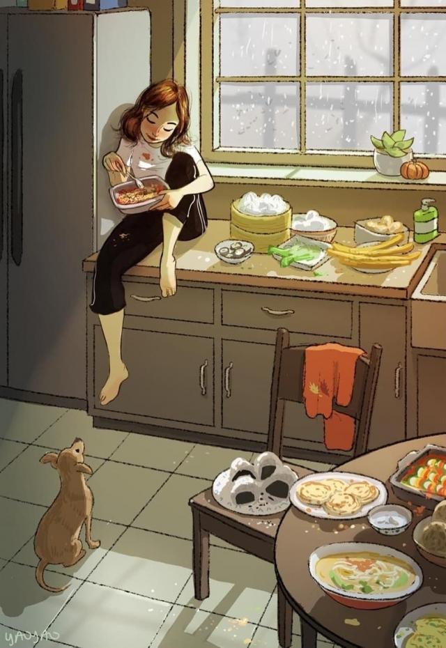 Фото: Художница показала, как выглядит жизнь собачника (Фото)