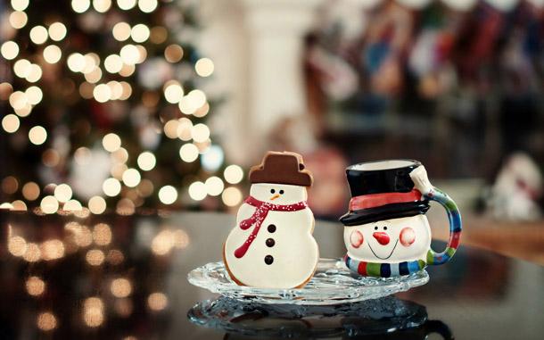 """Новогодняя картинка """"Печенье-снеговики"""""""