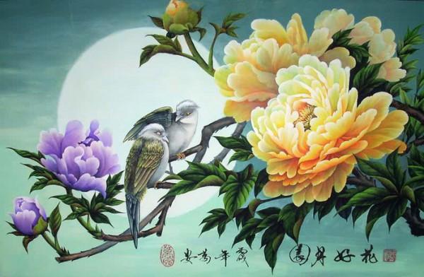 цветы художник Wan An - 05