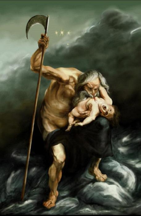 Сатурн, пожирающий своего сына. Рубенс, 1636 год. | Фото: oto.ru.