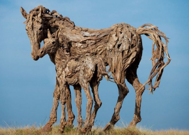 Скульптуры из дерева от Джеймса Доран-Уэбба (9 фото)