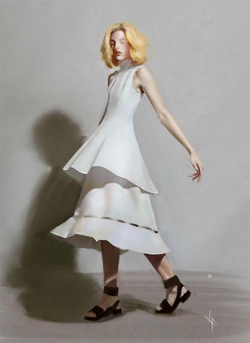 Белое платье. Автор: Justine Florentino.