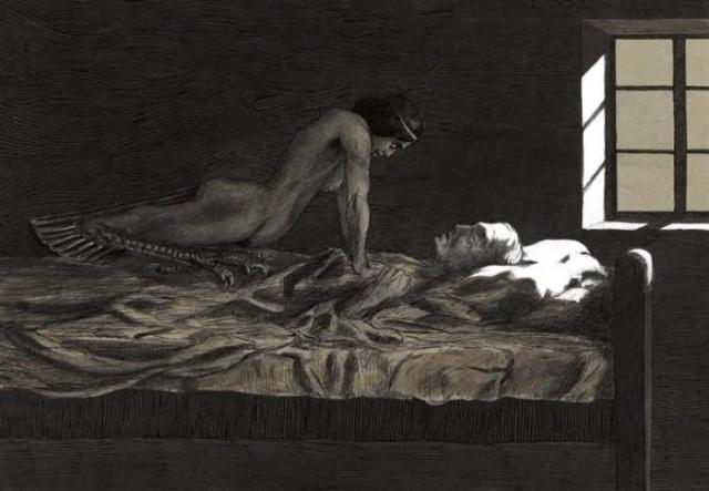 Моя мечта, мой плохой сон. Фриц Швимбек, 1915 год. | Фото: en.wikipedia.org.