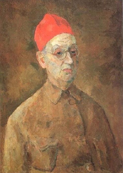 Автопортрет в красной феске. (1957г.). Автор: Роберт Рафаилович Фальк.