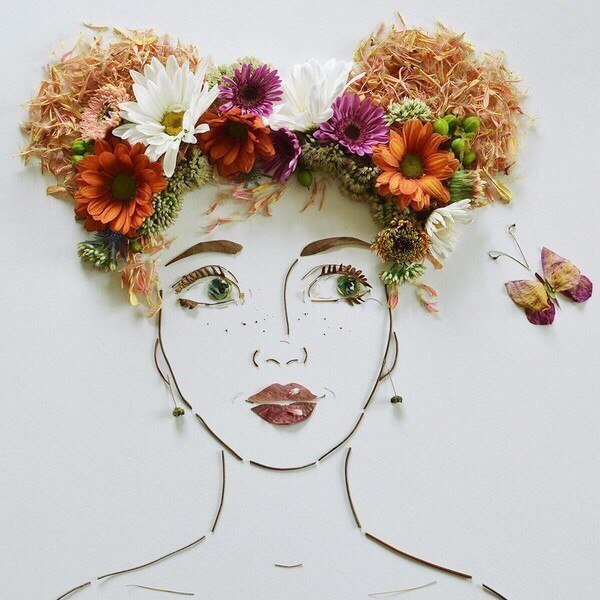 Цветочные портреты своими руками