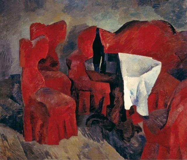 «Красная мебель». (1920г.). Автор: Роберт Рафаилович Фальк.