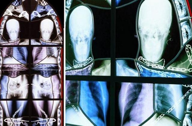 Необычный витраж: рентгеновские снимки от Вима Дельвуа.