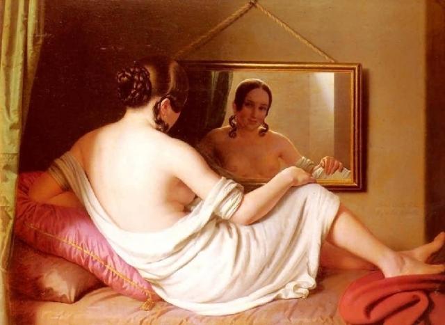 Женщина перед зеркалом. Автор: Антон Эйнсль.