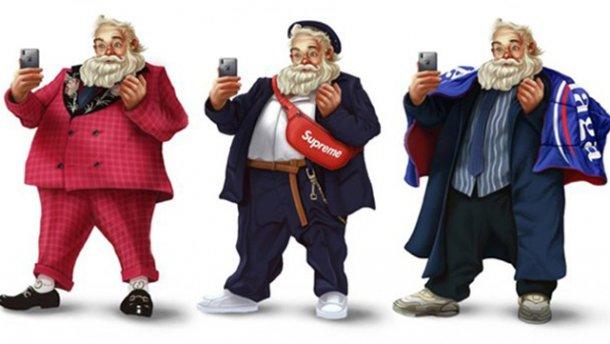 Модник-Санта на иллюстрациях Лиланда Фостера