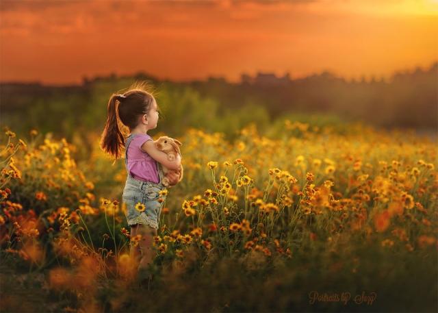 . Красивые и трогательные снимки дочери Сьюзи Мид с животными. Фото с сайта NewPix.ru
