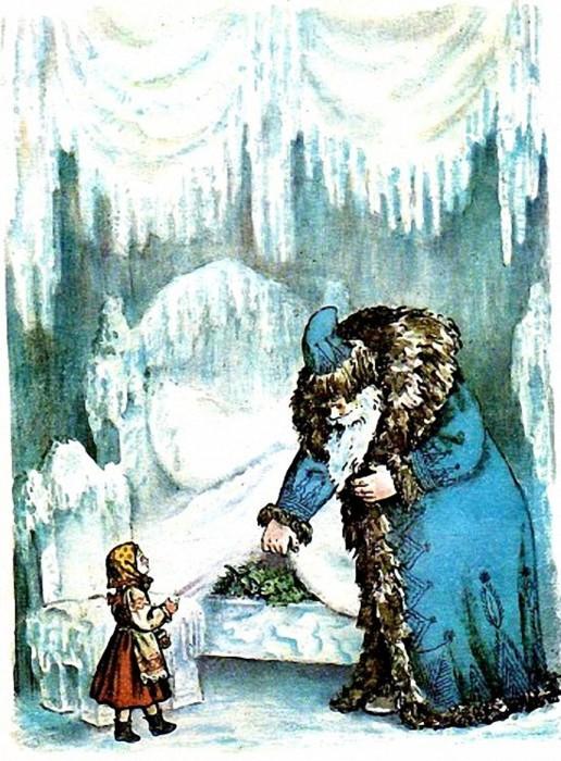 В. Конашевич. Иллюстрация к сказке «Мороз Иванович»