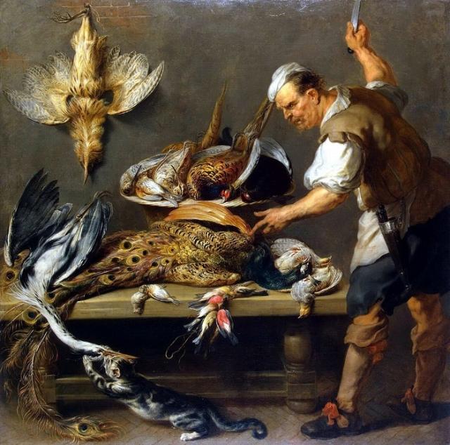 «Повар у стола с дичью». (1634-1637). (С-Петербург, Эрмитаж). Автор: Франс Снейдерс.