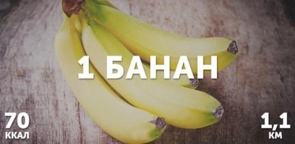 1 банан = 70 ккал