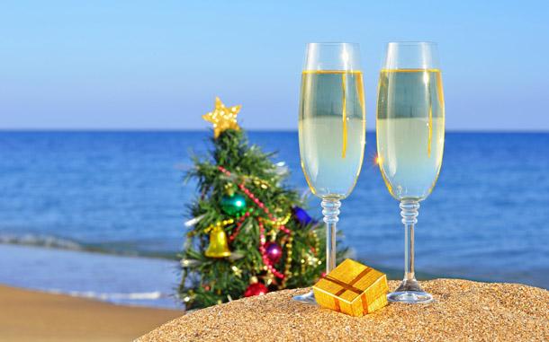 """Новогодняя картинка """"Новый год на пляже"""""""