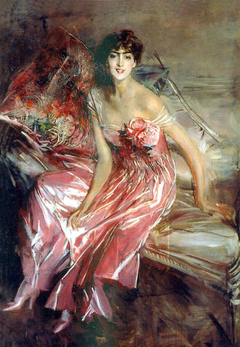 Леди в розовом, 1911 год. Автор: Giovanni Boldini.