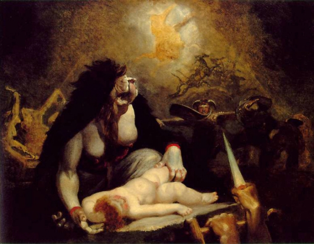 Визит ночной ведьмы (Лапландская ведьма). Генри Фюзели, 1796 год. | Фото: volynska.livejournal.com.