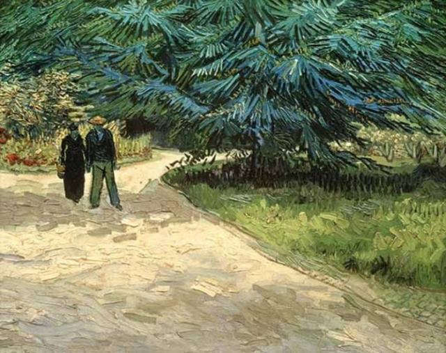 В саду. Автор: Ван Гог.