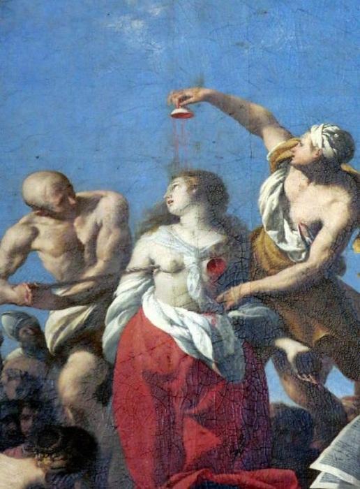 Мученичество Агаты. (1650). Автор:Giovanni Andrea Coppola