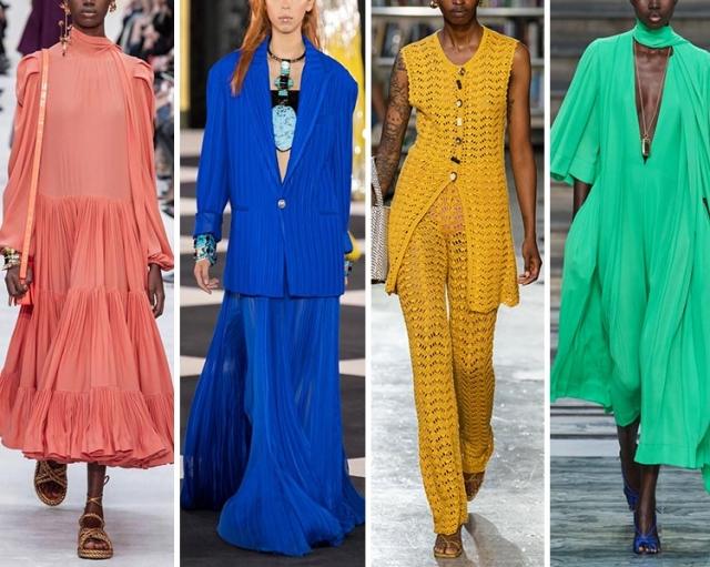 Модные цвета весна-лето 2020 в одежде, фото, сочетания