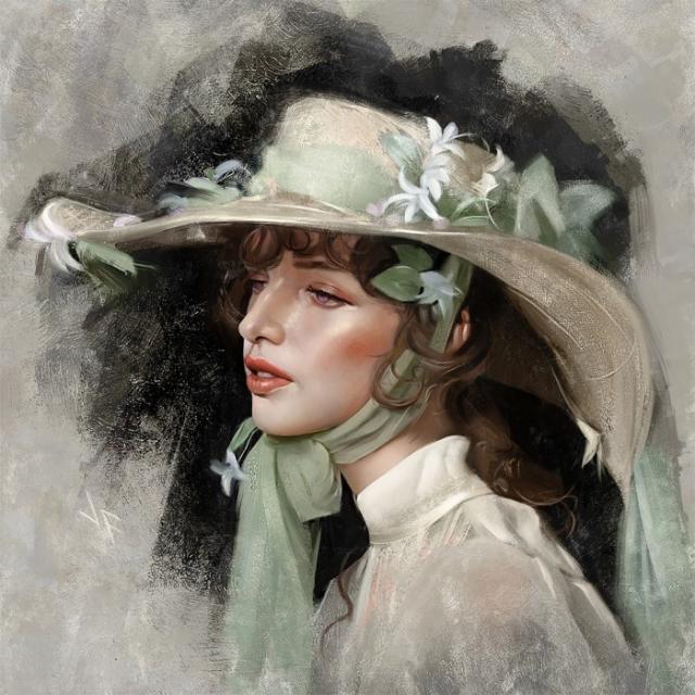 Скарлетт О'Хара. Автор: Justine Florentino.