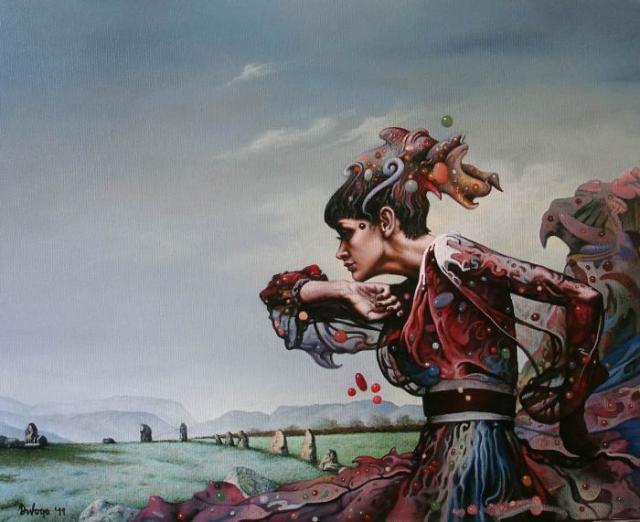 Картина из серии «Фантасмагория».  Автор: Драган Илич (Dragan Ilic).