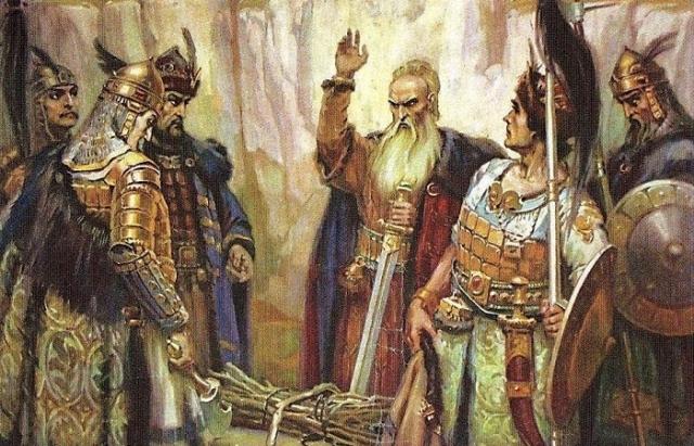 Откуда взялись и куда девались булгары. Картина Андрея Клименко.